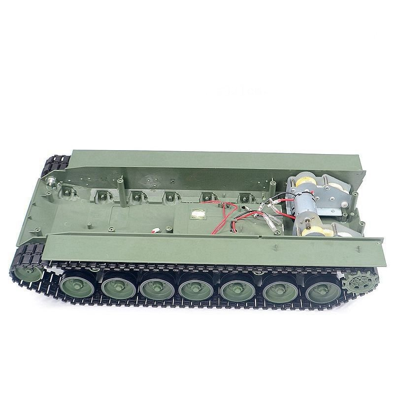 1Set Tank Chasssis Assembly Drive Gearbox+Track+Wheels Kit Replace Parts for 1/16 Henglong RC Tank Leopard 2A6 3889-1