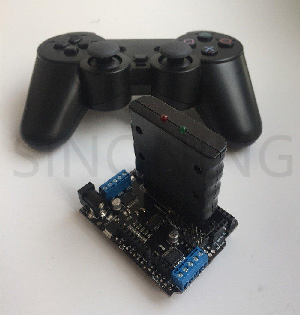 Arduino Motor Servo Shield Driver Board PS2 Handle Wireless Remote Control mearm