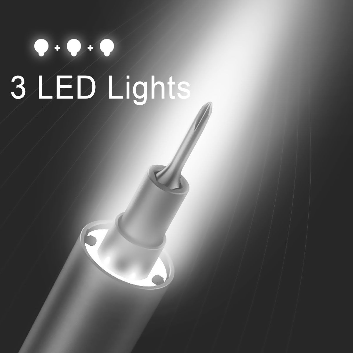For Wowstick 1F Pro Mini Electric Screwdriver Rechargeable Cordless Power Screw Driver Kit LED Light Lithium Battery Operated