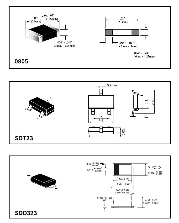 New SMD Component Sample Book,Resistor Capacitance Transistor Mos ALL IN one book,0805,SOT23,SOD323,105 kinds Each 25 pcs