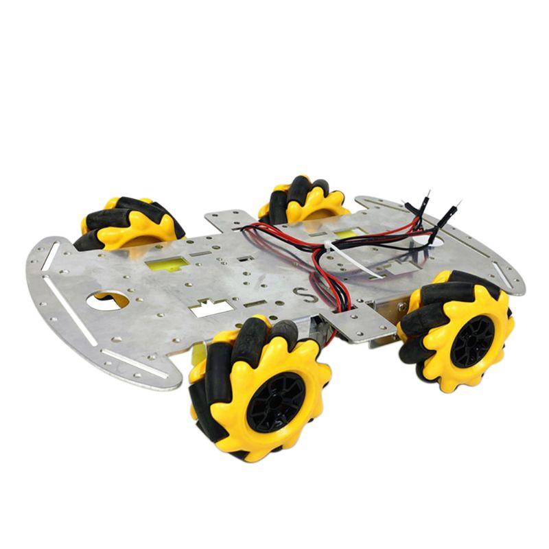 2020 Popular New Aluminum Alloy Omnidirectional Wheel Trolley Smart Robot Car Chassis Metal TT Motor Kits DIY Accessories