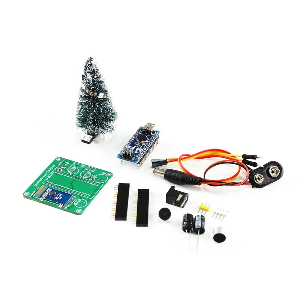 DIY Arduino christmas tree gift,Remote Controll WS2812 Using Bluetooth, Arduino nano,Open source Arduino project,arduino kit