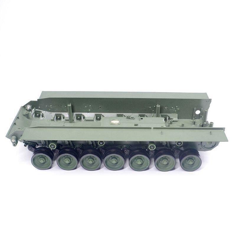 1Set Tank Chassis With Main Wheels Replace Parts for 1/16 Henglong RC Tank Leopard 2A6 3889-1 Heng Long