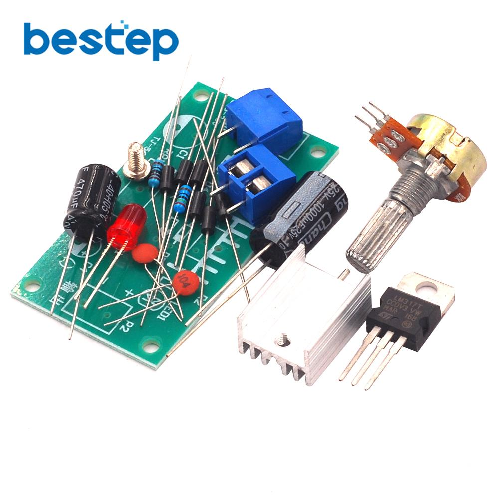 LM317 Adjustable Power Supply Kit Continuous Adjustable DC Power Supply DIY Teaching Training Parts