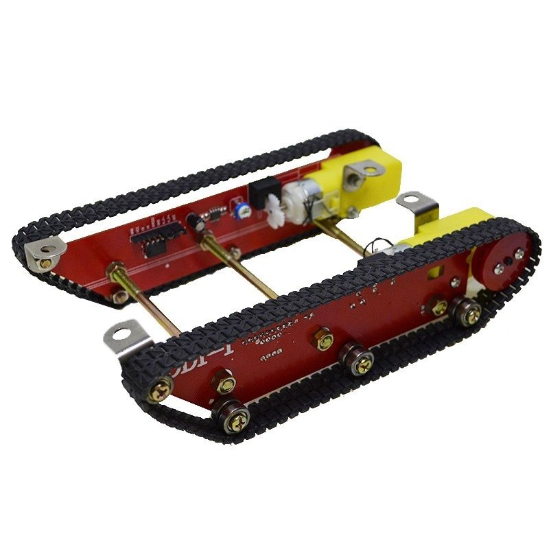 Smart Robot Tank Car Chasis Kits Caterpillar Crawler Chassis Track Integrated Motor Dd1-1 for Ard