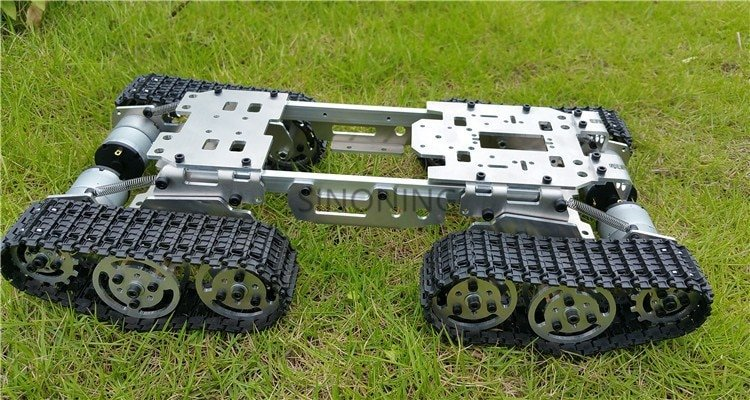 CNC Metal Robot ATV Track Tank Chassis suspension obstacle crossing Crawler SN1300