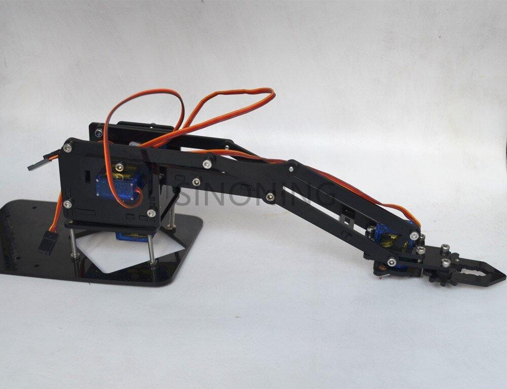 Acrylic Mechanics Handle Robot 4 DOF arm arduino Created Learning Kit SG90