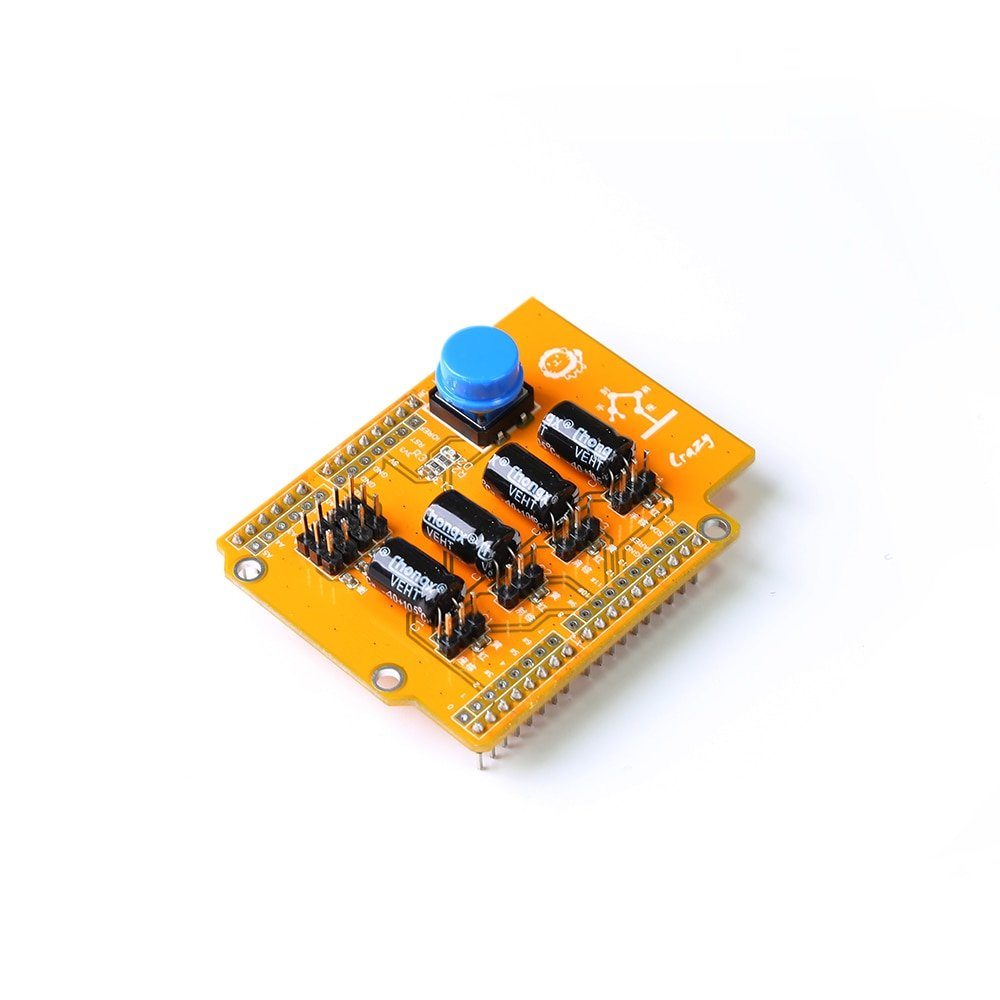 For arduino 4 servo steering gear + 4 sensors + 1 button switch UNO R3 expansion board