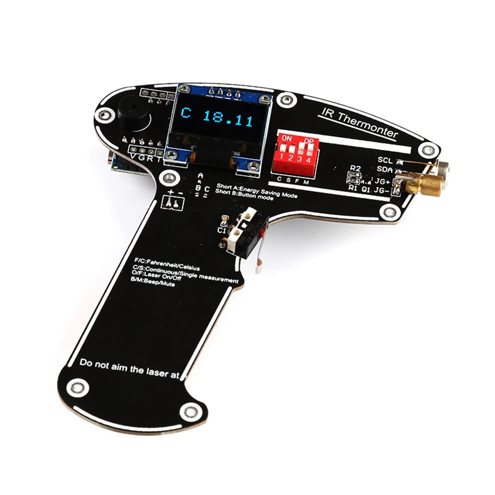 For Arduino DIY Kit Non-Contact IR Handheld Laser Digital Infrared Temperature OLED Display MLX90614 Temperature Sensor