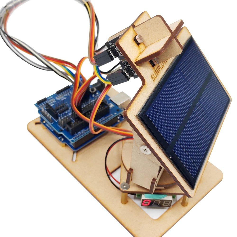 Arduino Intelligent Solar Tracking Equipment DIY STEM Programming Toys Parts
