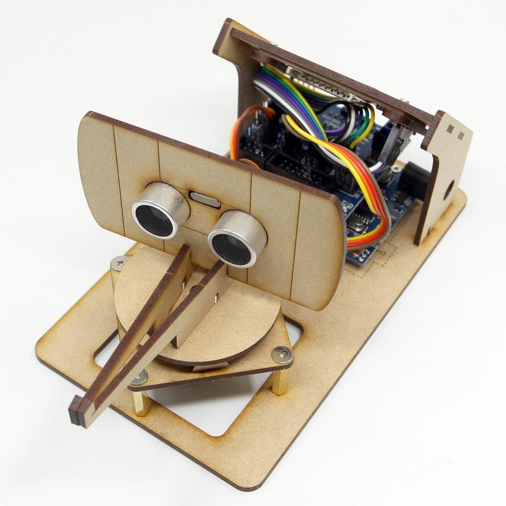 Arduino Mini Radar Detection Robot With Ultrasonic Radar Tft Lcd Screen Maker Project Open Source DIY STEM Progarm Toy Kit