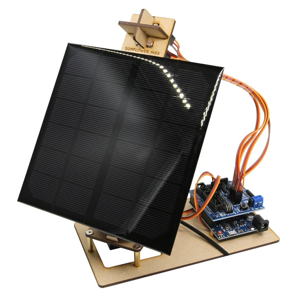 Arduino Program Smart Solar Tracker Can Be Used For Mobile Phone Charging Maker Power Generation Project DIY STEM Toy Parts