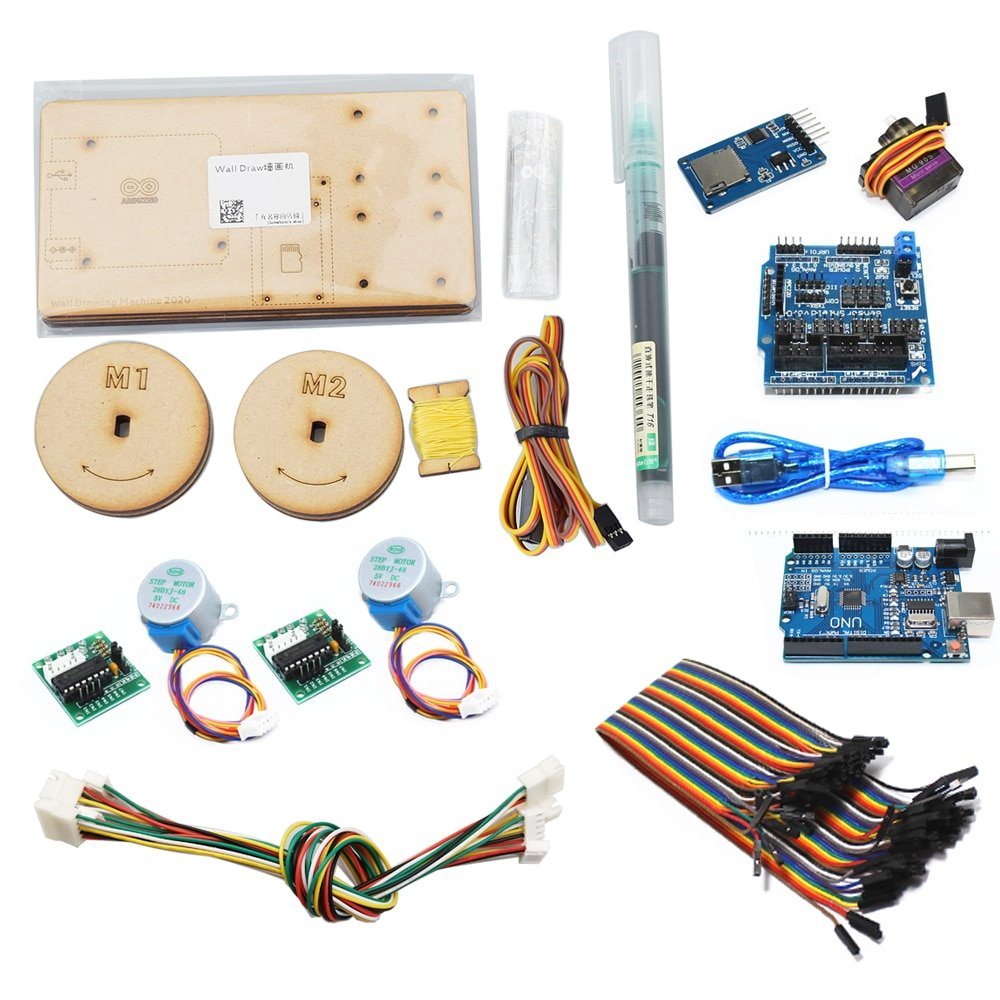 Drawbot Cable Plotter Wall Painting Robot for Arduino with Stepper Motor Servos DIY Maker Project Kit Polargraph