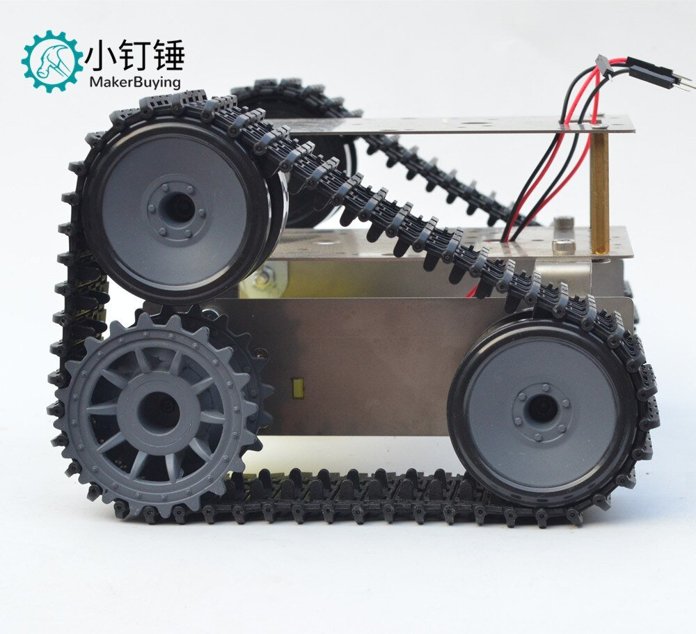 Stainless steel double-deck off-road SUV super-economic tank chassis intelligent car crawler robot for arduino