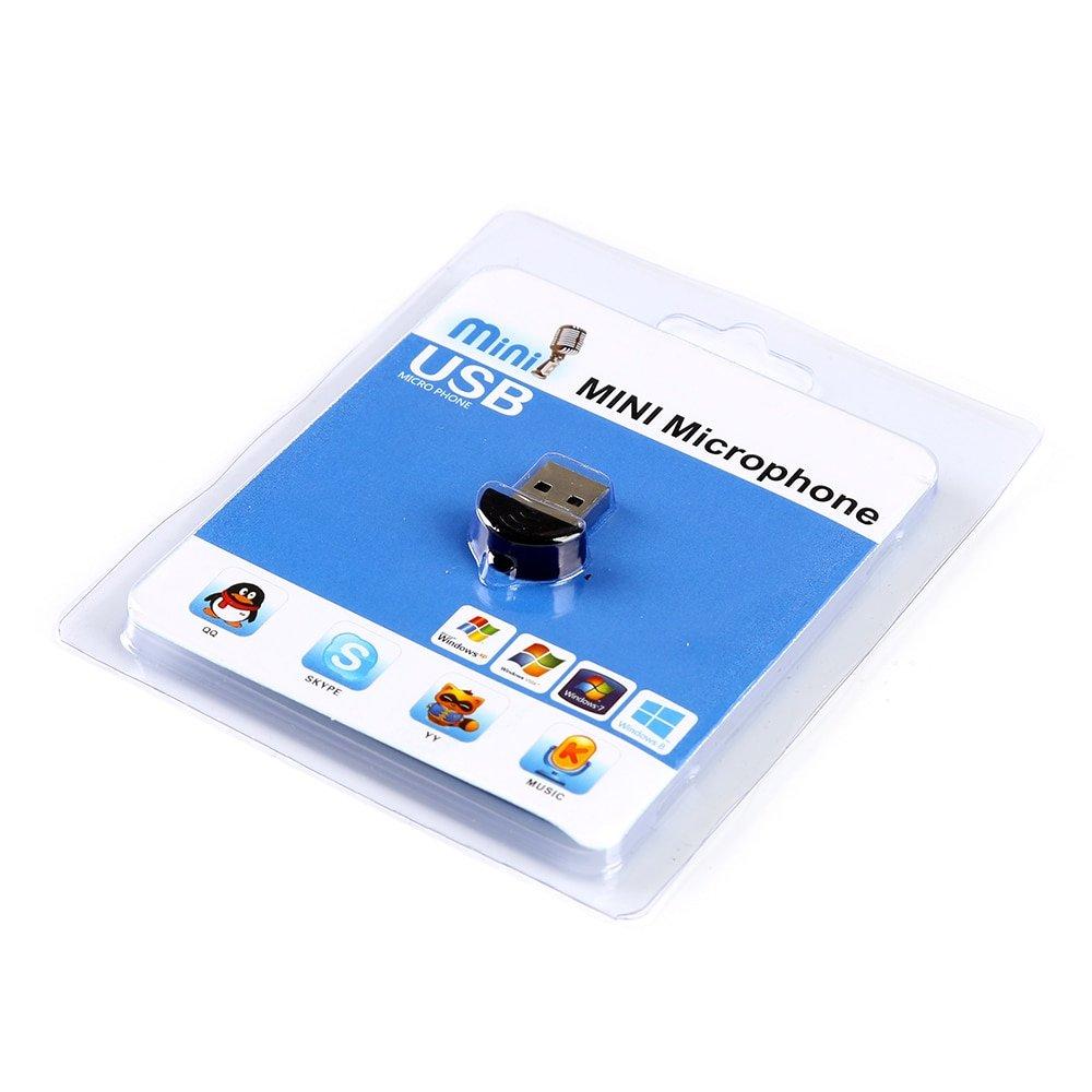 USB Mini Microphone for Raspberry Pi 4 Model B, 3B+,3B, 2 Model B and Rpi B+ Laptop Desktop PCs MIC Audio Adapter