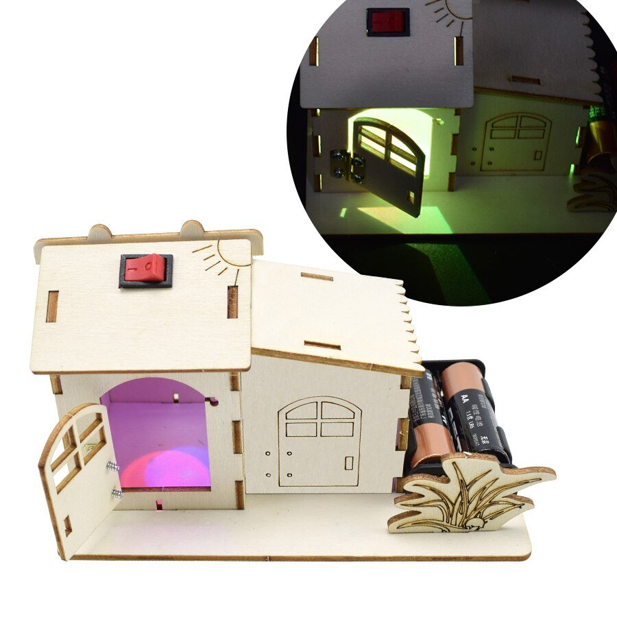 Colored Light House Model DIY Kit Assemble Educational Toy for Boy Physics Experiments Sets Learning Toys Science Electronic Kit