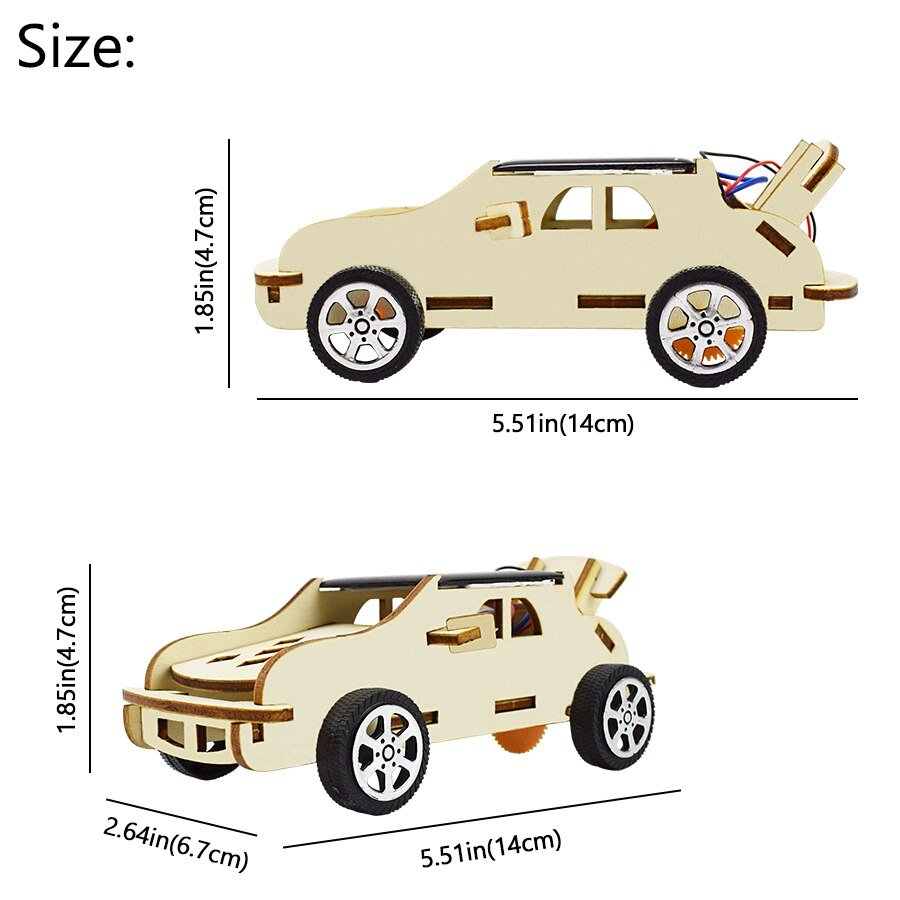 Solar Toy Car Model Physics Experiment Sets for Kids Assembly DIY Educational Kit STEM Science Toys for Boys 8 Years Children