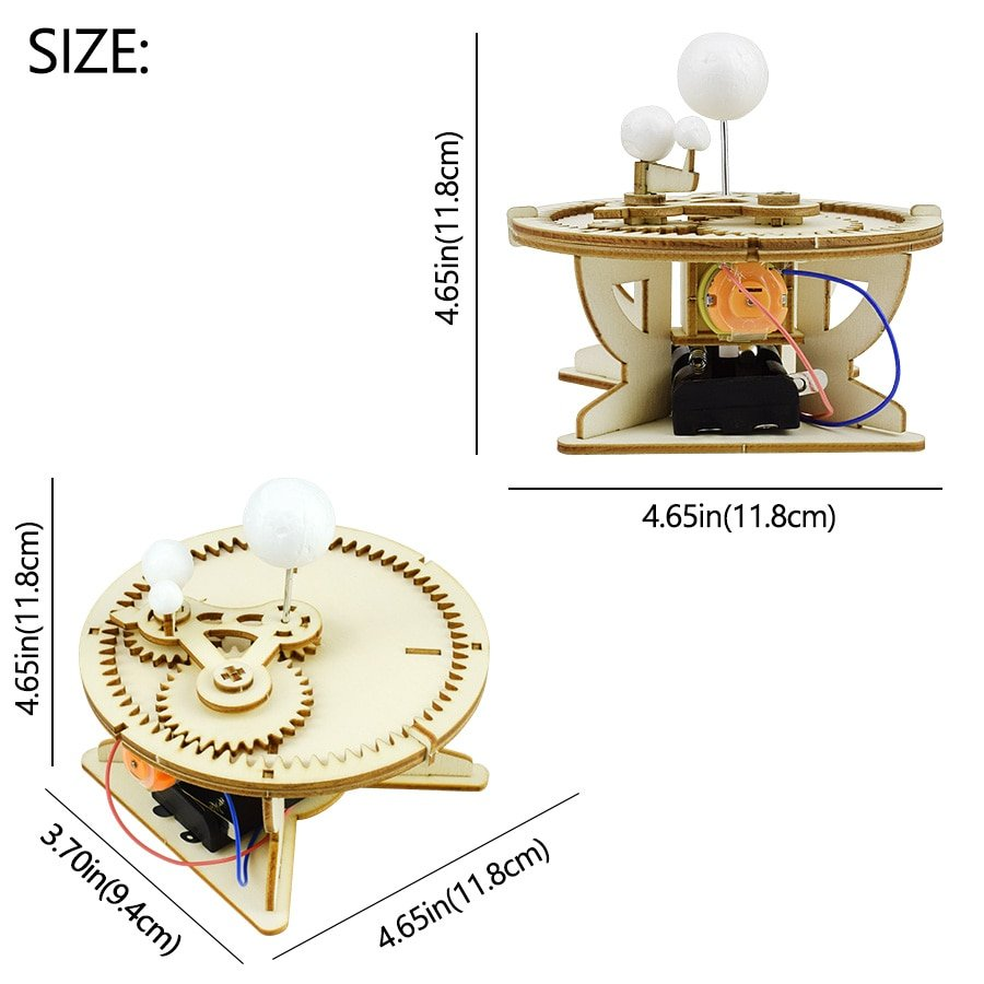 Universe Planet Motion Model Kits Science Toy for Children DIY Assembly Models Learning Astronomical Science Educational Toys