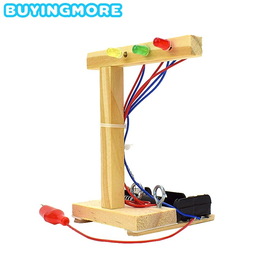 DIY Traffic Light Model Kit Educational Toys for Children Exploring Science Child Experiment Handmade Assembly Physics Toy Gifts