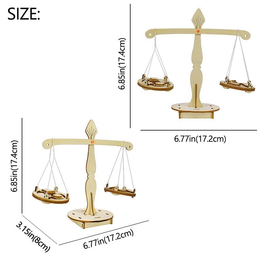 DIY Balance Model Kit Physics Experiment Education Science Toys for Children Wooden Model Hand-assembled Creative Toys for Boys