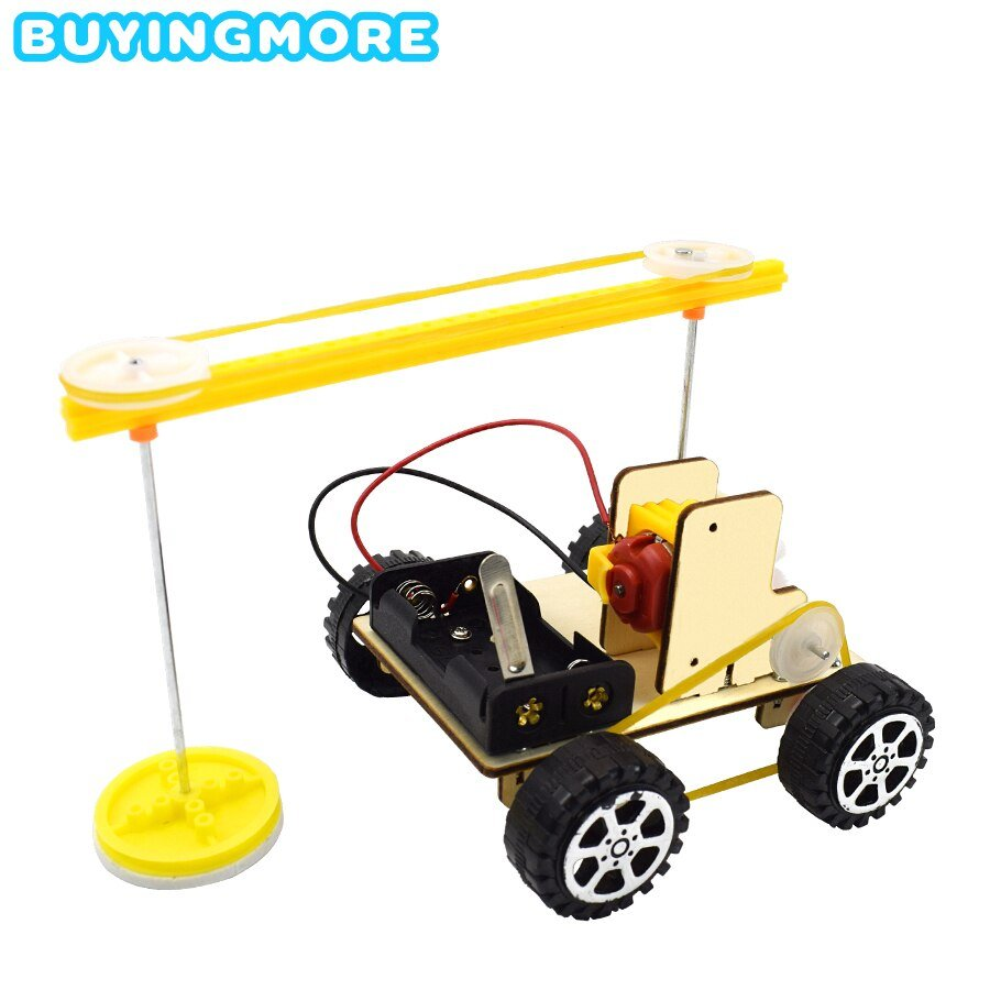 DIY Sweeping Robot Kit Car Model Science Toys for Boys Assembly Kit Physics Experiments Creative Educational Toys for Children