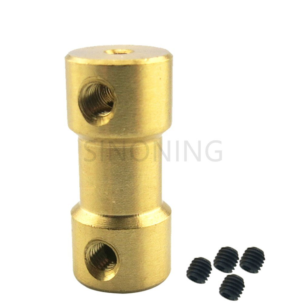 Brass Flexible Shaft Coupling Motor Rigid Coupler 20mm for Hobby Hand Drill Tool 2/2.3/3/3.175/4/5/6mm to 2/3/3.175/4/5/6mm